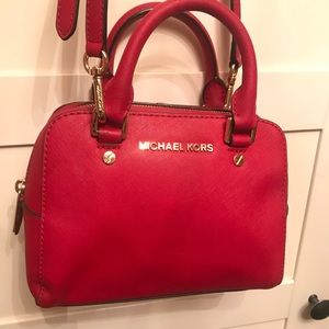 Authentic Micheal Kors Red Crossbody Bag
